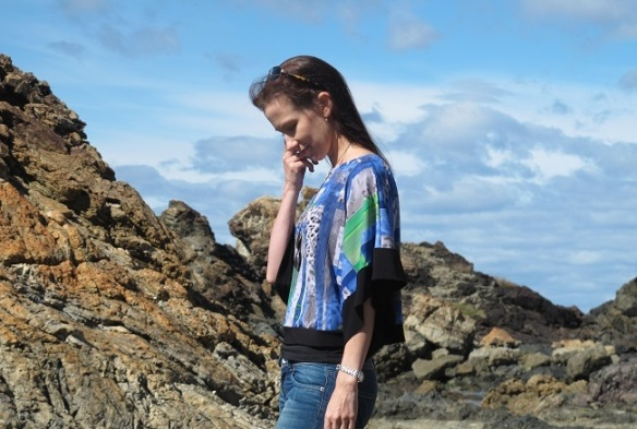 Sea Change Top 02, designed by Lily Sage & Co, side view