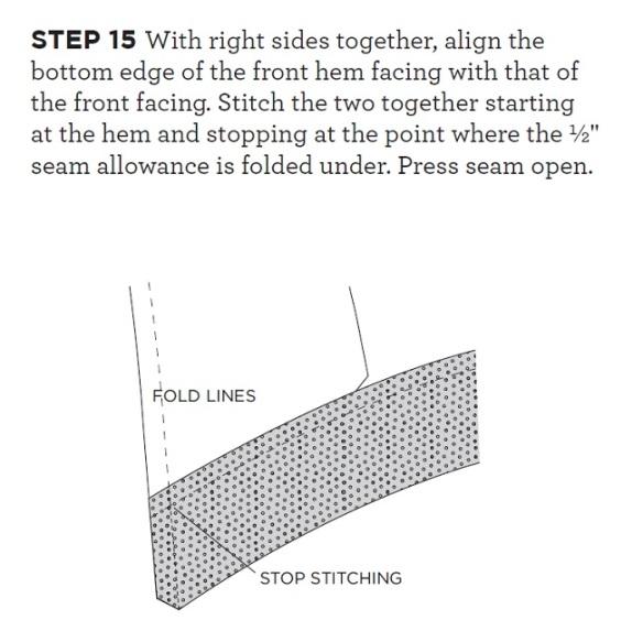 Step 15 - Grainline Morris Blazer