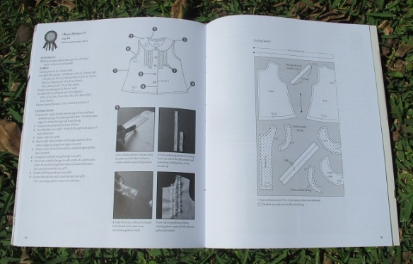 A typical pattern instruction page... the instructions are brief but point to the more detailed techniques section of the book which contain LOTS of photos!