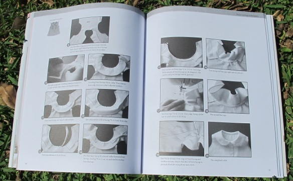 This is the 'how to attach a collar' technique section of the book - it's very detailed!