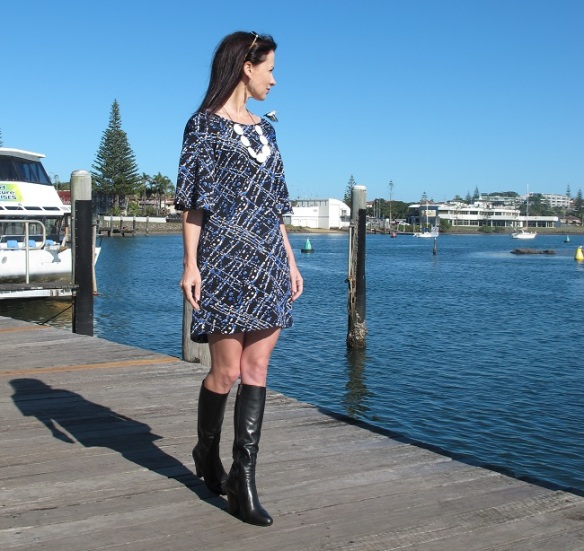 Papercut Patterns, Flutter tunic, side view