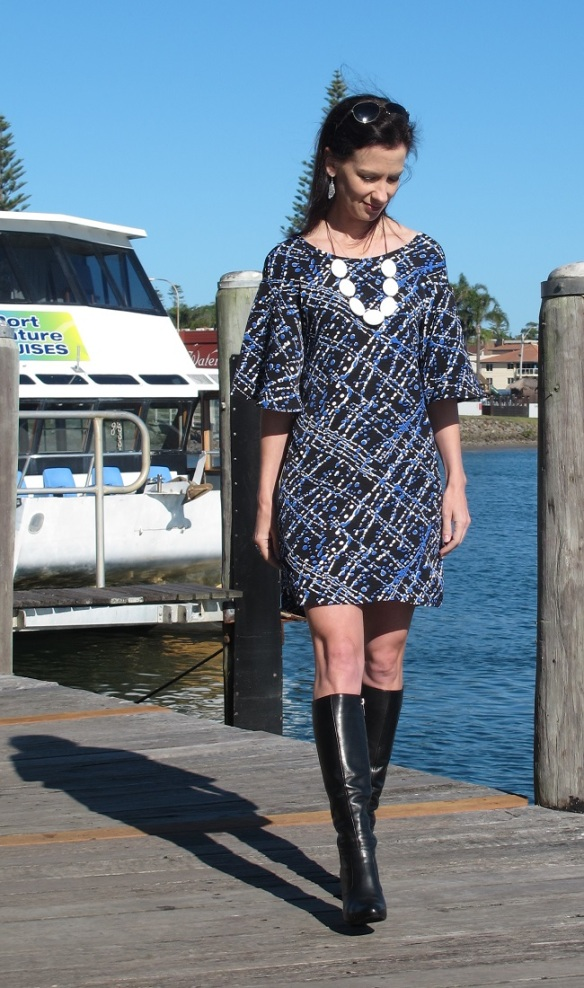 Papercut Patterns, Flutter tunic, front view