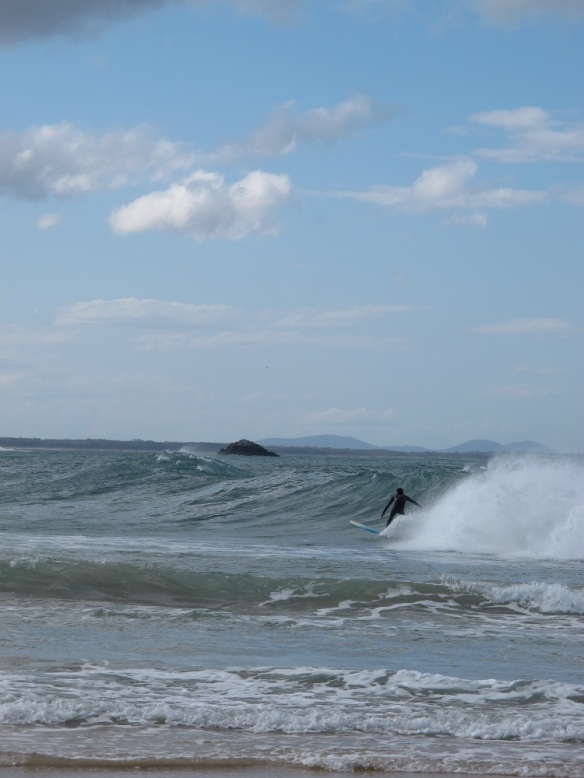 A cold and windy day but the surfers didn't seem to notice! Nobby's Beach, Port Macquarie