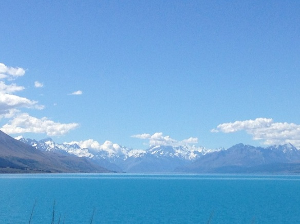 Just a gorgeous lake - shot out of the car window on the way to Lake Tekapo