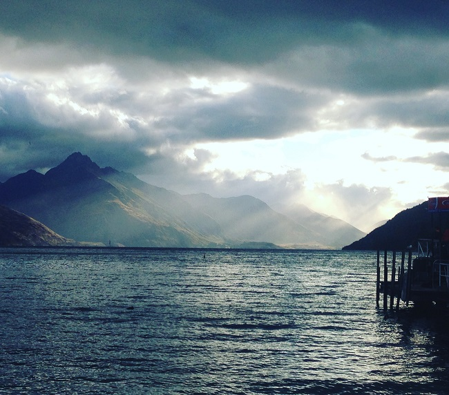 Queenstown, New Zealand - after dinner with LynneSews - Instagram meet-up!