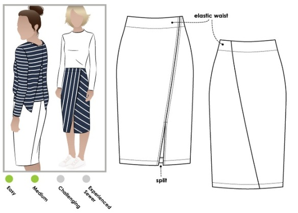 Style Arc Taylor Skirt, image courtesy of Style Arc http://www.stylearc.com.au/
