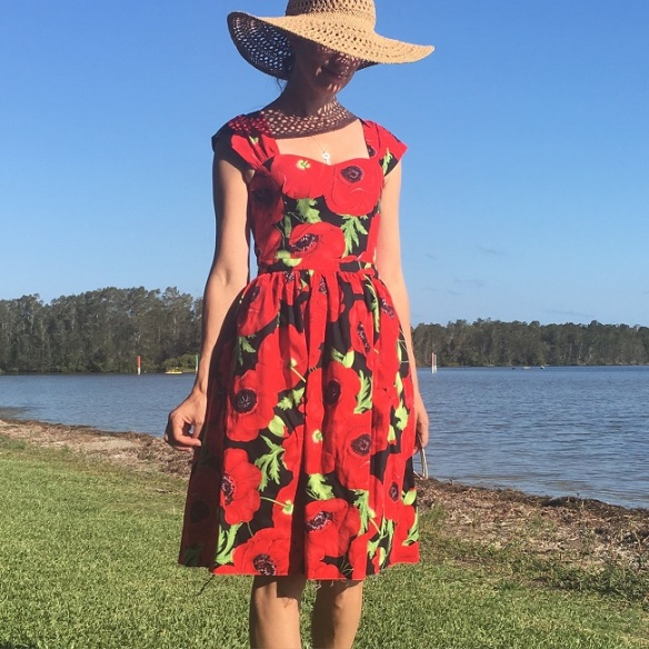 Sewaholic Cambie - No.5. Yes unhemmed. I had was camping and just completed some handsewing. I knew there would be no blog pictures, I couldn't resist trying it on for size...