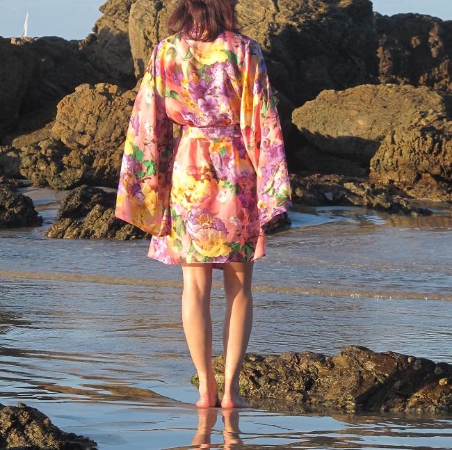 Asaka Kimono, Named Patterns, back view