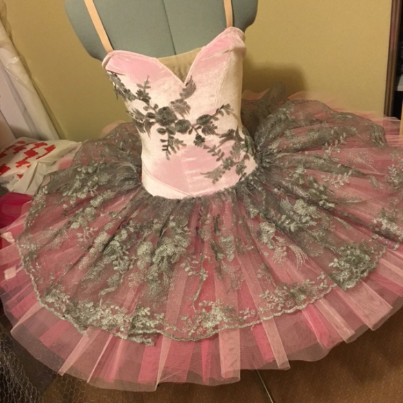 Tutu with a lace overlay