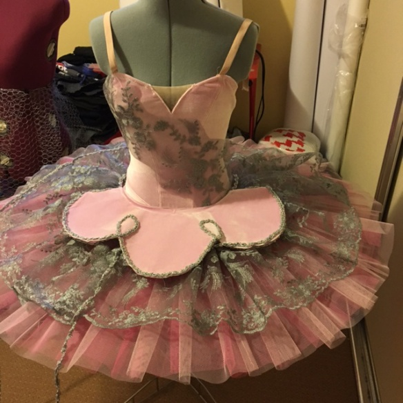 Tutu with lace overlay and velvet plate