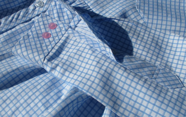 Burda Gathered Peplum Blouse 03/2015 #109 sewn by Sew Busy Lizzy