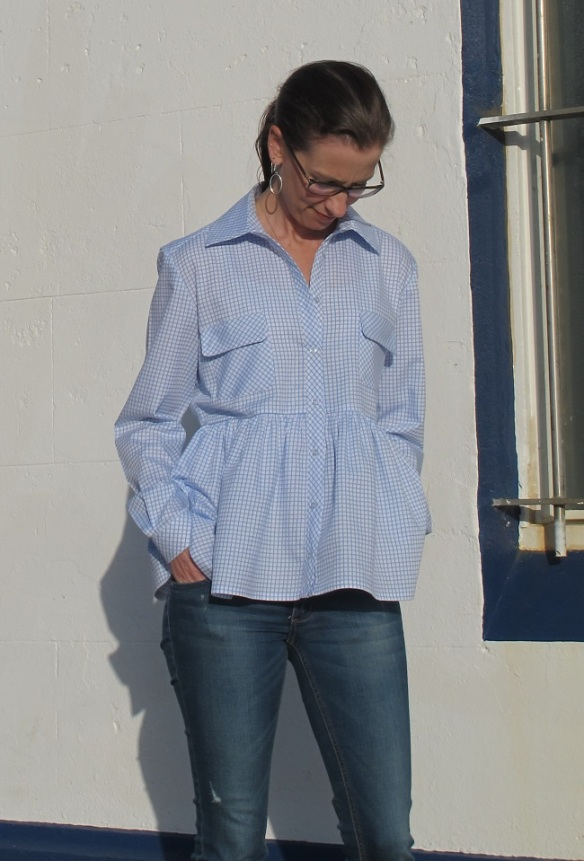 Burda Gathered Peplum Blouse 03/2015 #109 sewn by Sew Busy Lizzy