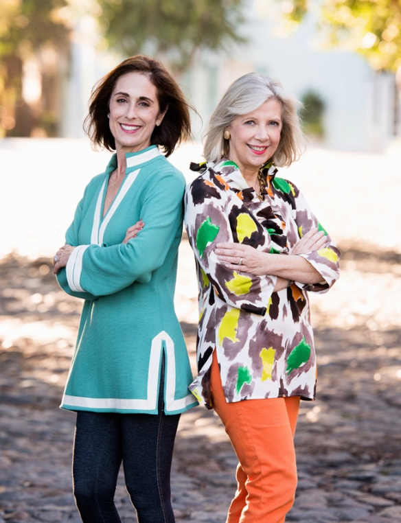 Julie Starr and Sarah Gunn, authors of The Tunic Bible