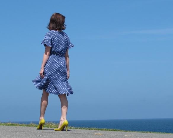 Papercut Adrift Dress - back view