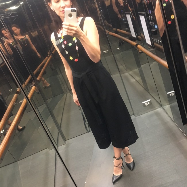 New Look 6446 in black 'French' crepe