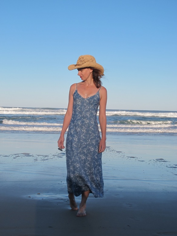 A simple summery slip dress. Sadie Slip Dress by Tessuti Fabrics