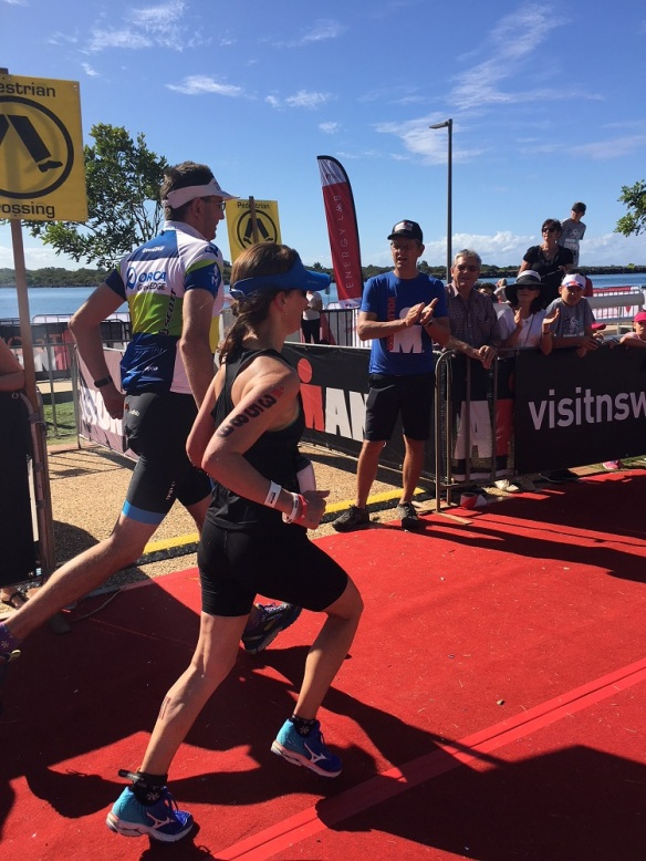 """The most difficult thing I've done. The run leg of a half ironman in the heat of day... I did think for most of the distance """"how so I explain this to the specialist in November"""""""
