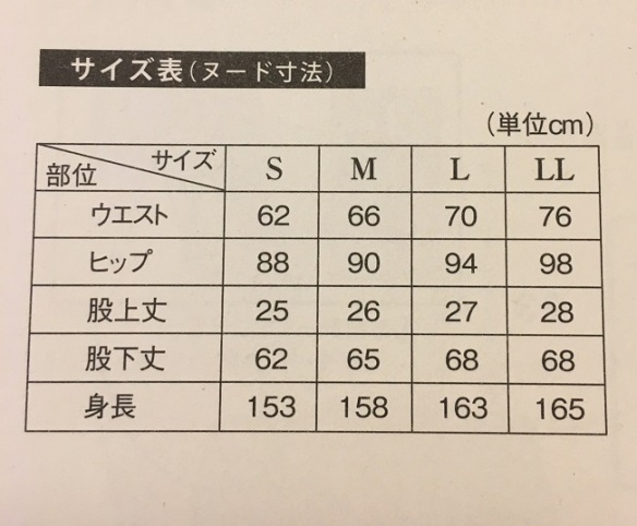 Book size chart