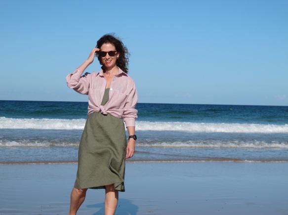 Olya Shirt, Paper Theory & Sadie Slip Dress, Tessuti Patterns