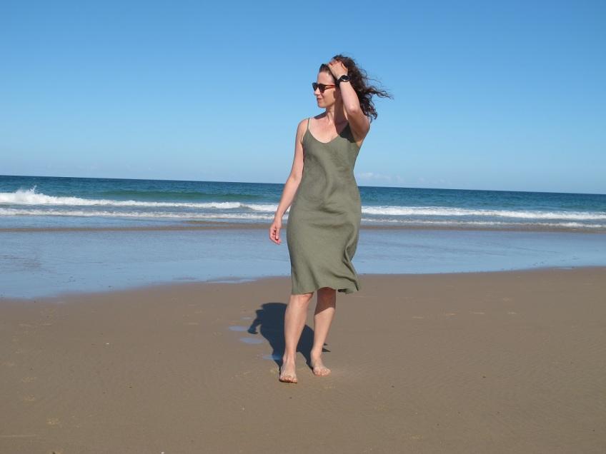 Sadie Slip Dress, Tessuti Patterns.