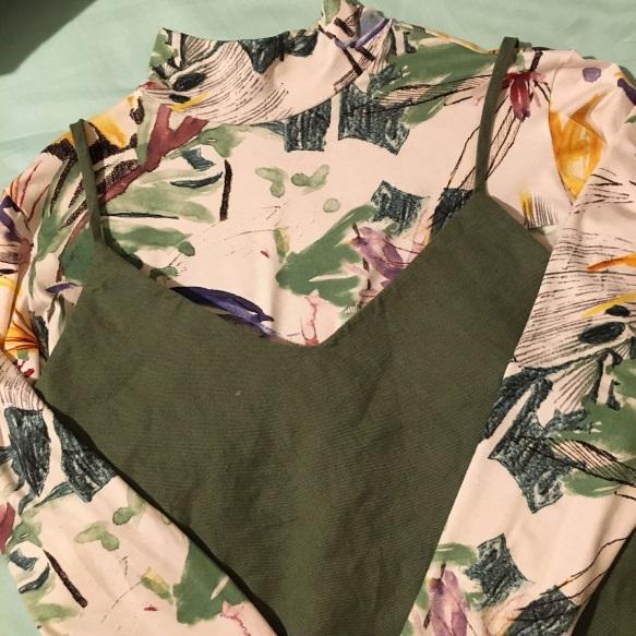 Sadie Slip Dress and a Rise Turtleneck